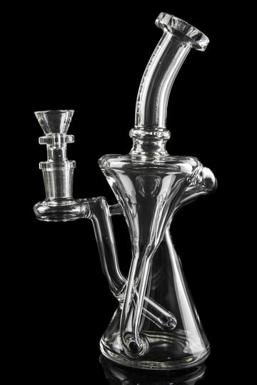 """""""Jinni"""" Diffused Inline Downstem Recycler Bong"""
